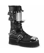 Demonia Metal Toe Spiked Punk Goth Alternative Platforms Boots Gravedigg... - $114.95