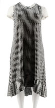 H Halston Slvless Printed Hi-Low Hem Maxi Dress Black XXS NEW A292238 - $34.63