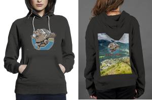 Beaver valley z hoodie women black