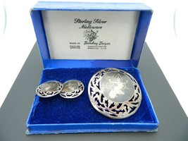 Siam Nielloware Sterling Silver Earrings Pin Brooch Thailand Dancing Girls Set - $44.54