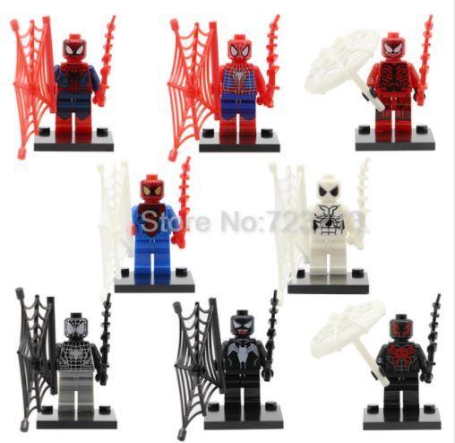 SY188 Marvel Spiderman Figure 8pcs Venom Peter Parker Minifigure Lego Block AB2 for sale  USA