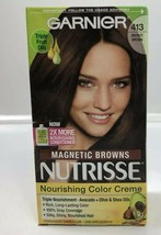 Garnier Nutrisse Nourishing Hair Color Dye Bronze Brown 413 Magnetic Browns - $11.88