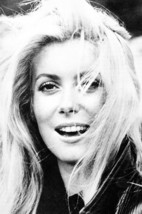 Catherine Deneuve beautiful smiling late 1960's hair blowing 18x24 Poster - $23.99
