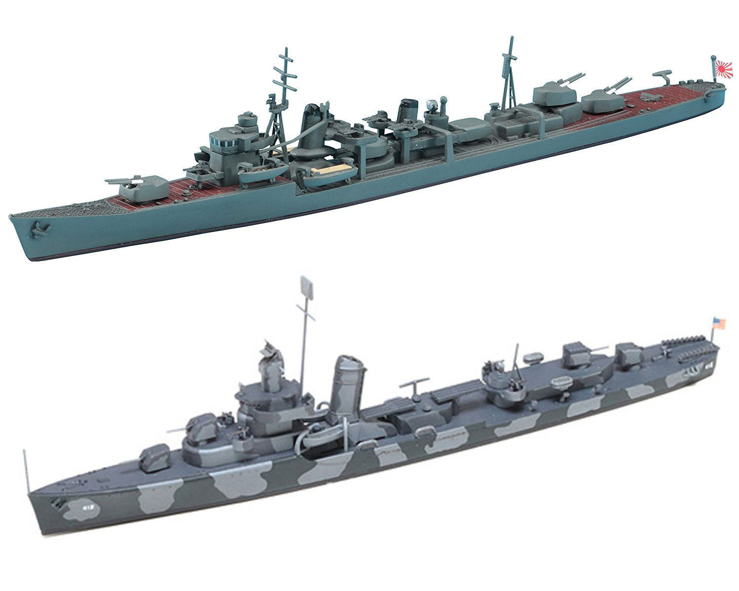 Primary image for 2 Ship Assembly Models of Japanese and US Navy Destroyers - Arashio and Hammann