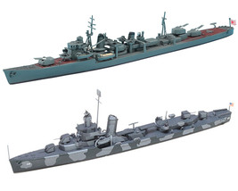 2 Ship Assembly Models of Japanese and US Navy Destroyers - Arashio and ... - $29.69