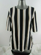 Ann Taylor multi-color striped sweater size large viscose blend - $18.46