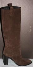 Nib Gucci Women Suede Boots Heels Brown 38.5 39.5 317032 - $355.00