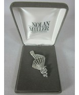 Nolan Miller Glamour Collection Rhinestone Crystal Handkerchief Pin vintage - $69.29
