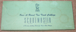 CRIBBAGE ONCE A ROUND TWO TRACK CRIBBAGE SCOREMASTER GAME 1963 DRUEKE HA... - $25.00