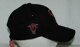 TEI Black Texas Tech Adjustable Cap Masked  Rider TT Colors image 2