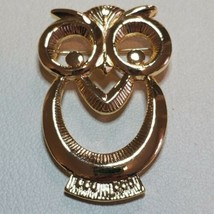 Vintage Avon Wise Eyes Owl Gold Tone Eyeglasses Holder Brooch Pin 1992  - $19.79