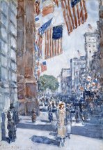 The Museum Outlet - Flags, Fifth Avenue, 1918, Stretched Canvas Gallery ... - £106.15 GBP