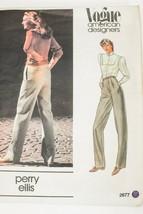 VTG 1980s Vogue PERRY ELLIS Designer Pattern 2677 Proportioned Pants Siz... - $21.83