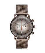Emporio Armani AR11169 Brown Tone Stainless Steel Men's Watch - $164.99