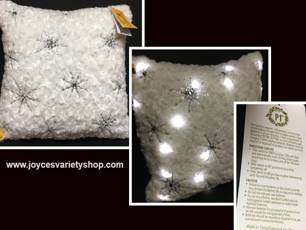 Pier 1 light up pillow web collage