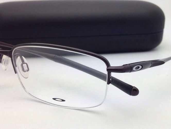 6ff0996a64 New OAKLEY Eyeglasses CLUBFACE OX 3102-0254 Semi-Rimless Polished Brown  Frames