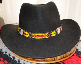 Custom Made Yellow Fellow. A Cowboy Style Hatband with  Porcupine Quills... - $84.00