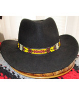 American Made! Yellow Fellow. A Cowboy Style Hatband with  Porcupine Qui... - $84.00