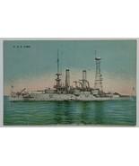 Old Divided Back Postcard Navy USS Iowa BB-4 Pre-Dreadnought Battleship ... - $14.65