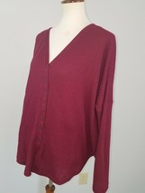 A.N.A. Maroon Wine Red Long Sleeve Cotton T-Shirt Top - $9.85
