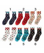 Multi-Color Xmas Gifts Soft Winter Warm Cotton Christmas Socks 2pcs TkYg... - $26.73