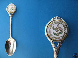 Prince Edward Island Lady's Slipper Souvenir Spoon - $5.99