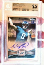 SUPER BOWL NICK FOLES 2012 TOPPS CHROME ON-CARD AUTO RC #153 BGS 9.5 w/ ... - $143.55