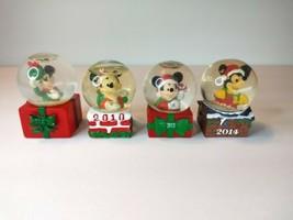 Disney Mickey Minnie Mouse JC Penney Mini Christmas Water Snowglobe Set ... - $29.70
