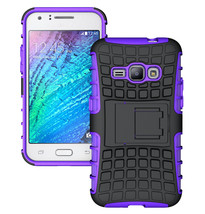 Dual Layer Hybrid Stand Cover Case For Samsung Galaxy J1 2016 - Purple  - $4.99