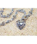 Cookie Lee Antiqued Silver Heart Necklace - Item #48017 - New! - $15.00