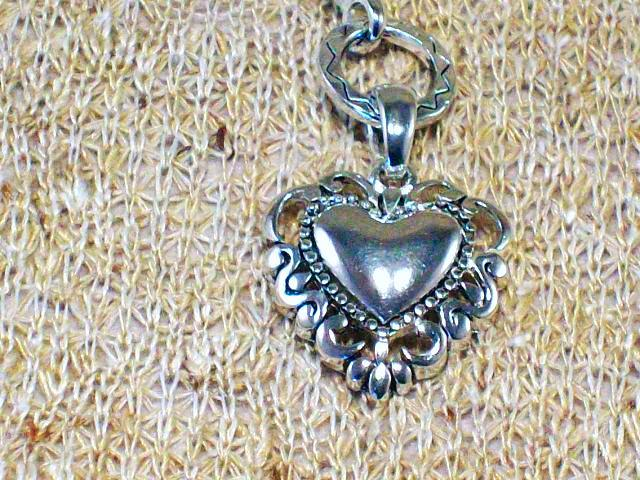 Cookie Lee Antiqued Silver Heart Necklace - Item #48017 - New! image 2