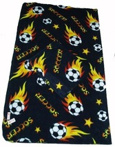Soccer Ball Fleece Blanket w/ Tag 50x60 - Black - $20.99