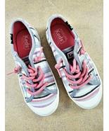 Keds Girls Toddler Kids Shoes Sneakers Kickstart Toe Cap Jr Striped Size... - $23.75