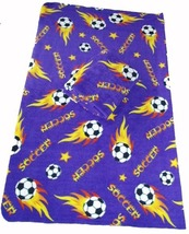 Soccer Ball Fleece Blanket w/ Tag 50x60 - Purple - $20.99