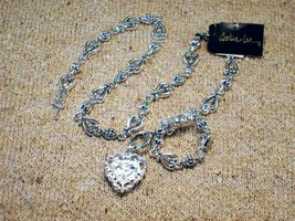 Cookie Lee Antiqued Silver Heart Necklace - Item #48017 - New! image 5