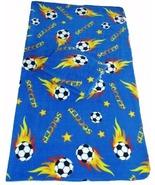 Soccer Ball Fleece 2-yard Fabric - Blue - $23.99