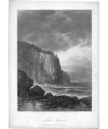 Old Print - Lake Superior (Entrance to Baptism Bay) - $75.00