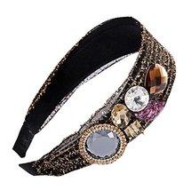 Elasticity Wide - edge Hoop Headdress Fashion Rhinestones Hair Ornaments Hoop image 2
