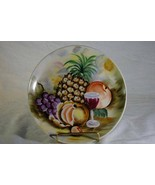 Lipper & Mann Hand Painted Signed T. Nagasaki Fruit & Wine Decorator Plate - $10.79