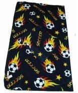 Soccer Ball Fleece Blanket w/ Tag 60x70 - Black - $22.99