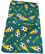 Soccer Ball Fleece Blanket w/ Tag 60x70 - Green - $22.99