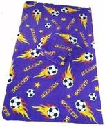 Soccer Ball Fleece 2-yard Fabric - Purple - $23.99