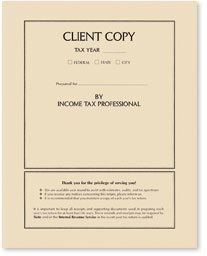 Income Tax Return Folder - Client Copy - 50 Count