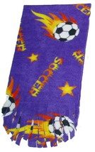 Soccer Ball Fleece Scarf - Purple - $9.99