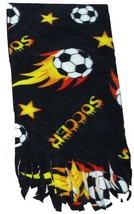 Soccer Ball Fleece Scarf - Black - $9.99