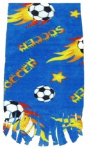 Soccer Ball Fleece Scarf - Blue - $9.99