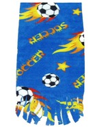 Soccer Ball Fleece Scarf - Blue - $9.99