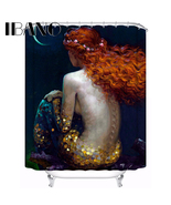 150x180cm Glod Mermaid Customized Shower Curtain Waterproof Bathroom Fab... - $33.89