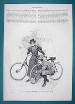 BICYCLE Troubles Opera Singer Lieban & Wife - VICTORIAN Era Illustration - $6.75