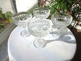 Set of 4 Action Clear Crystal Champagne Glasses - $29.69